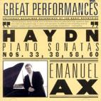 PIANO SONATAS NO.33,38,58,60/ EMANUEL AX