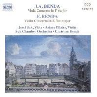 VIOLA & VIOLIN CONCERTOS/ JOSEF SUK, CHRISTIAN BENDA [벤다: 비올라 & 바이올린 협주곡 - 수크]