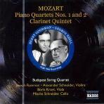 PIANO QUARTETS NOS1,2/ CLARINET QUINTET/ BUDAPEST STRING QUARTET