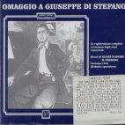 OMAGGIO A GIUSEPPE DI STEFANO/ 2 BRANI D`OPERA E CANZONI - LOSANNA 1944-1946
