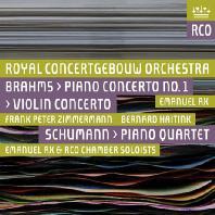PIANO CONCERTO NO.1, VIOLIN CONCERTO & PIANO QUARTET/ EMANUEL AX, FRANK PETER ZIMMERMANN, BERNARD HAITINK [SACD HYBRID] [브람스: 바이올린, 피아노 협주곡 & 슈만: 피아노 사중주]