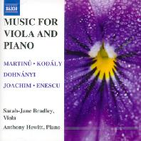 MUSIC FOR VIOLA AND PIANO/ SARAH-JANE BRADLEY, ANTHONY HEWITT