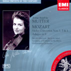 VIOLIN CONCERTOS NO.1, 2 & 4/ ANNE-SOPHIE MUTTER [GREAT ARTISTS OF THE CENTURY] [모차르트: 바이올린 협주곡 - 안네 소피 무터]