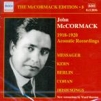 MCCORMACK EDITION 8: 1918-20 ACOUSTIC RECORDINGS