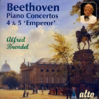 PIANO CONCEERTO NO.4 & 5/ ALFRED BRENDEL, HANS WALLBERG