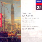 LA CETRA/ACADEMY OF ST MARTIN IN THE FIELDS/ BROWN/ MARRINER (DECCA 2CD)