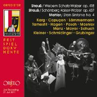 SYMPHONY NO.4 (ERWIN STEIN), SCHATZ-WALZER, KAISER-WALZER/ CHRISTIANE KARG, RENAUD CAPUCON, ALBRECHT MAYER, CLEMENS HAGEN [말러: 교향곡 4번(에르빈 슈타인 편곡), 슈트라우스 2세: 황제 & 보물 왈츠]