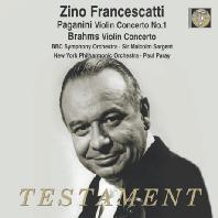 PAGANINI & BRAHMS: VIOLIN CONCERTOS/ MALCOLM SARGENT, PAUL PARAY [파가니니: 바이올린 협주곡 1번 & 브람스: 바이올린 협주곡 - 지노 프란체스카티]