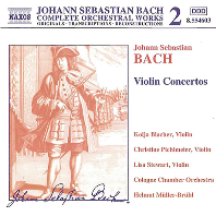 VIOLIN CONCERTOS/ HELMUT MULLER-BRUHL [바흐: 바이올린 협주곡]