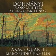 PIANO QUINTETS & STRING QUARTET NO.2/ MARC-ANDRE HAMELIN, TAKACS QUARTET [도흐나니: 피아노 오중주, 현악 사중주 2번 - 아믈랭, 타카치 사중주단]
