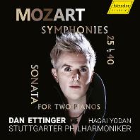 SYMPHONIES 25 & 40, SONATA FOR TWO PIANOS/ HAGAI YODAN, DAN ETTINGER [모차르트: 교향곡 25, 40번, 두 대의 피아노를 위한 소나타 - 하가이 요단]