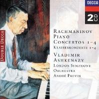 PIANO CONCERTOS 1-4/ VLADIMIR ASHKENAZY, ANDRE PREVIN [라흐마니노프: 피아노 협주곡 - 아쉬케나지 & 프레빈]