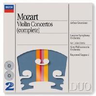 COMPLETE VIOLIN CONCERTOS/ ARTHUR GRUMIAUX, COLIN DAVIS, RAYMOND LEPPARD [DECCA DUO] [모차르트 바이올린 협주곡 전곡 - 그뤼미오]
