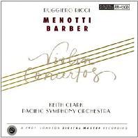 VIOLIN CONCERTOS/ RUGGIERO RICCI, KEITH CLARK [메노티 & 바버: 바이올린 협주곡 - 루지에로 리치]