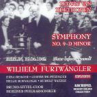 SYMPHONY NO.9 D MINOR/ WILHELM FURTWANGLER