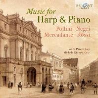 MUSIC FOR HARP & PIANO/ ANNA PASETTI, MICHELE GIOIOSA [메르카단테, 폴리니, 네그리, 로시: 하프와 피아노를 위한 작품 - 안나 파세티]
